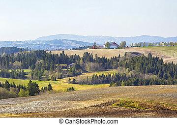 Agricultural area Tillermarka, Norway