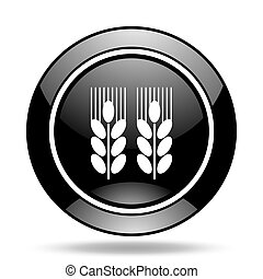 agricultural black glossy icon
