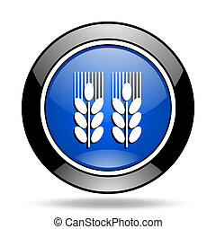agricultural blue glossy icon