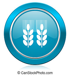 agricultural blue icon
