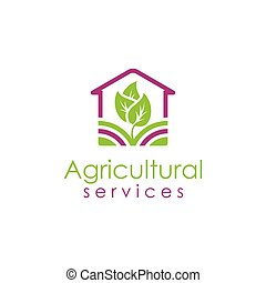 Agricultural green logo design template
