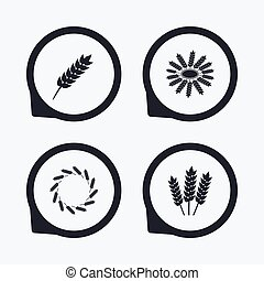 Agricultural icons. Gluten free symbols.