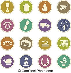 Agricultural icons set