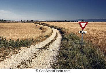 Agricultural landscape in Provence, France