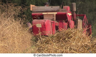 agricultural machinery - Agricultural combine harvester cut...