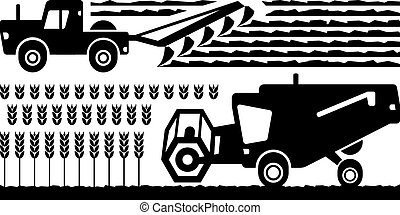 Agricultural machinery farm