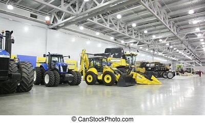 Agricultural machinery on AGROSALON Exhibition. - MOSCOW -...