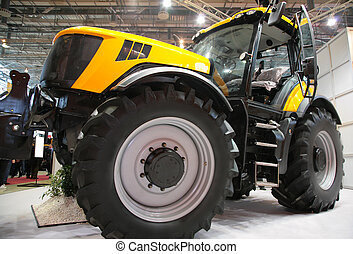 Agricultural machinery on exhibition