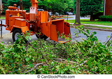 Agricultural machinery, wood shredder