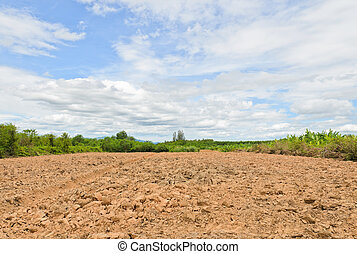Agricultural plowed ground