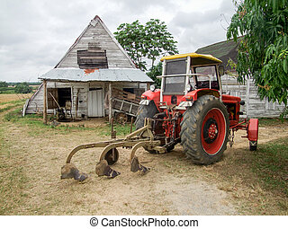 agricultural scenery in Cuba - rural farming scenery seen in...