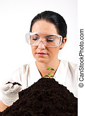 Agricultural scientist woman