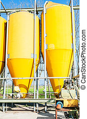 agricultural silos for the storage.