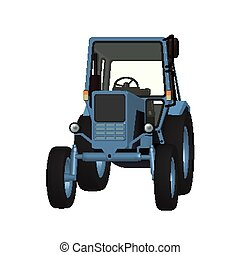 Agricultural tractor 3D vector graphic for tillage,...