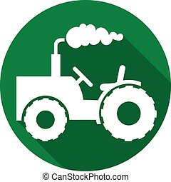 agricultural tractor flat icon