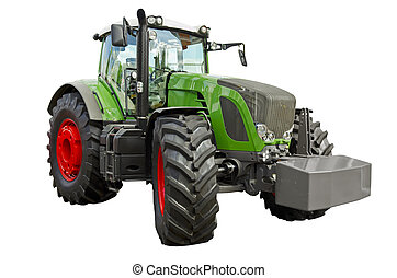 Agricultural tractor - Powerful agricultural tractor on a...