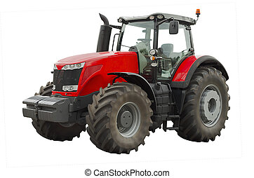 Agricultural tractor - Powerful agricultural tractor on a ...