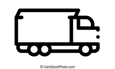 Agricultural Vehicles Icon Animation Agricultural Transport, Harvesting Machinery Pictograms. Harvesters, Tractors, Irrigation Machines, Combines