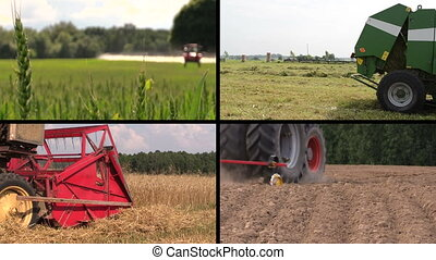 agricultural work collage