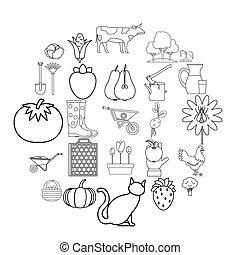 agriculturalist, ikonok, állhatatos, áttekintés, mód