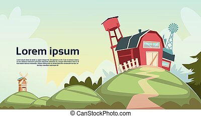 Agriculture And Farming, Barn Building Field Farmland Countryside Landscape