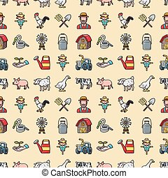 Agriculture and Farming icons set,eps10