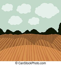 agriculture, conception, paysage