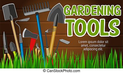 Agriculture, gardening and farming tools - Gardening tools...