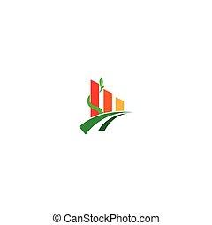 agriculture, icône, arbre