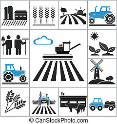 Agriculture icons. Vector set for you design