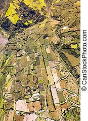 Agriculture In Tungurahua Aerial Shot