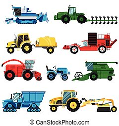 Equipment farm for agriculture machinery combine harvester.