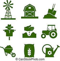 Agriculture industry and gardening icons