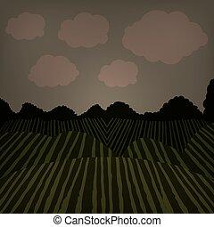 Agriculture landscape design