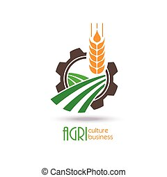 Agriculture Logo Template Design. Icon, Sign or Symbol. farm, nature, ecology. Vector