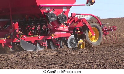 Agriculture machine sowing seeds