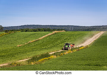 agriculture, machinerie, tracteur