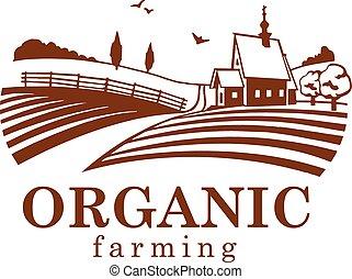 agriculture organique, conception, element.