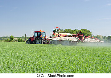 Agriculture - plant protection - Agriculture - tractor...
