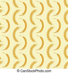 Agriculture seamless pattern with wheat ears