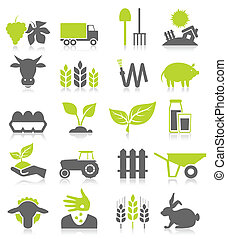 Agriculture - Set of icons on a theme agriculture. A vector ...