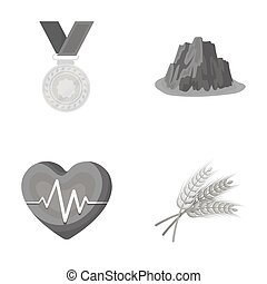 agriculture, sport and other monochrome icon in cartoon...