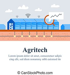 Agriculture technology, agritech concept, automation system...