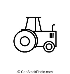 agriculture tractor transport linear design