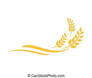 wheat Logo Template - Agriculture wheat Logo Template vector...