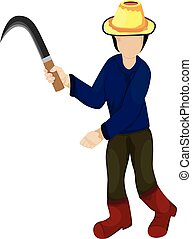agriculturist cartoon shape on white background