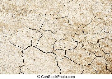 agrietado, secado, tierra