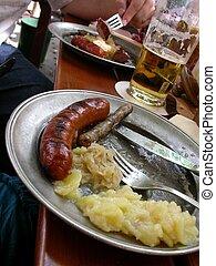agrio, krout, bratwurst