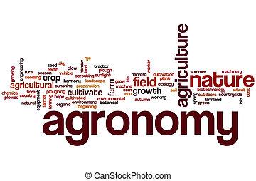 agronomie, woord, wolk