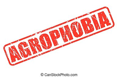 AGROPHOBIA red stamp text